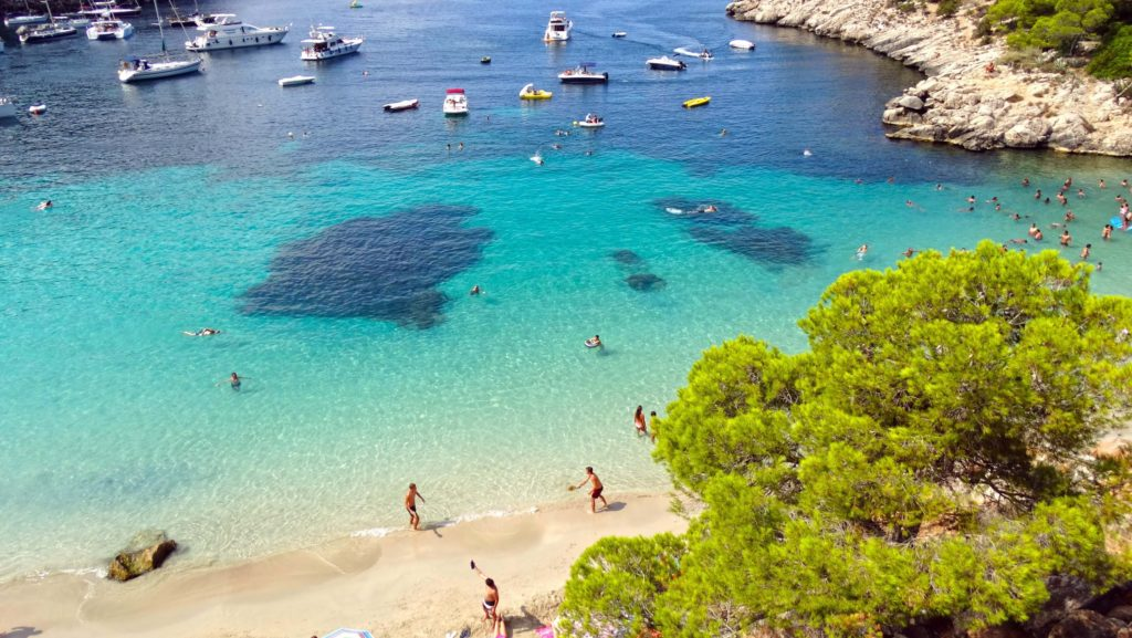 cala salada beach in san antonio ibiza san antonio ibiza. Black Bedroom Furniture Sets. Home Design Ideas