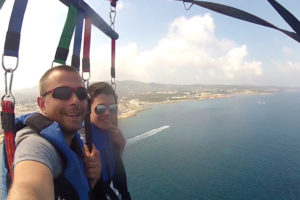 Parasailing in San Antonio Ibiza great view