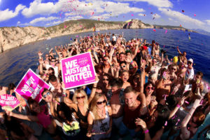 Pukka Up Boat Party in San Antonio Ibiza - Hot Girls and Guys sunset party
