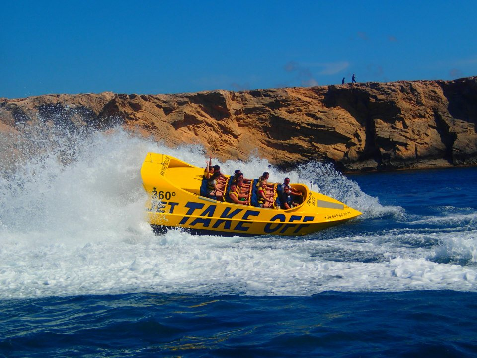 Take Off in San Antonio Ibiza Jet Boat