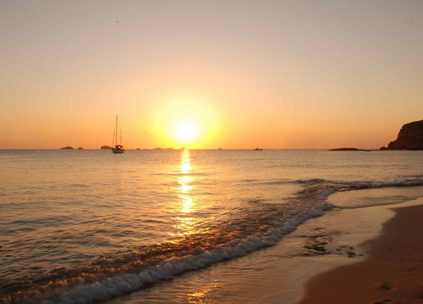 Cala des Moro Sunset Strip beach San Antonio Ibiza